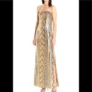 New Adrianna Papell strapless Sequin cable gown
